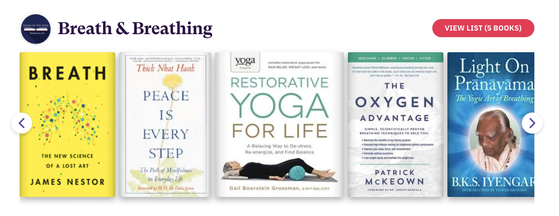 Books on Breathing and Breath