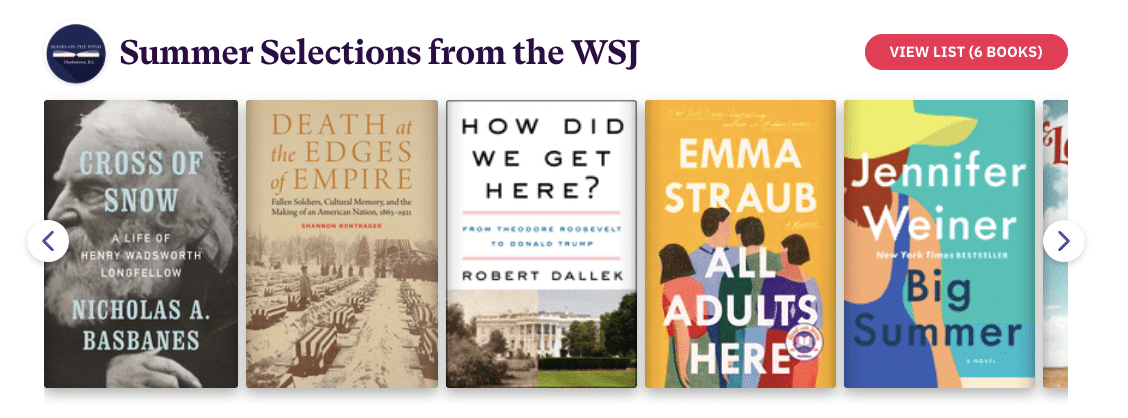 Summer Books from the Wall Street Journal