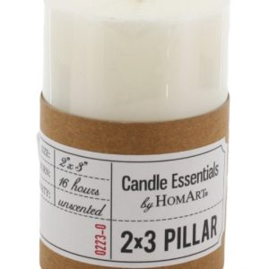 Ivory Pillar Paraffin Wax Candle 2 x 3 inches