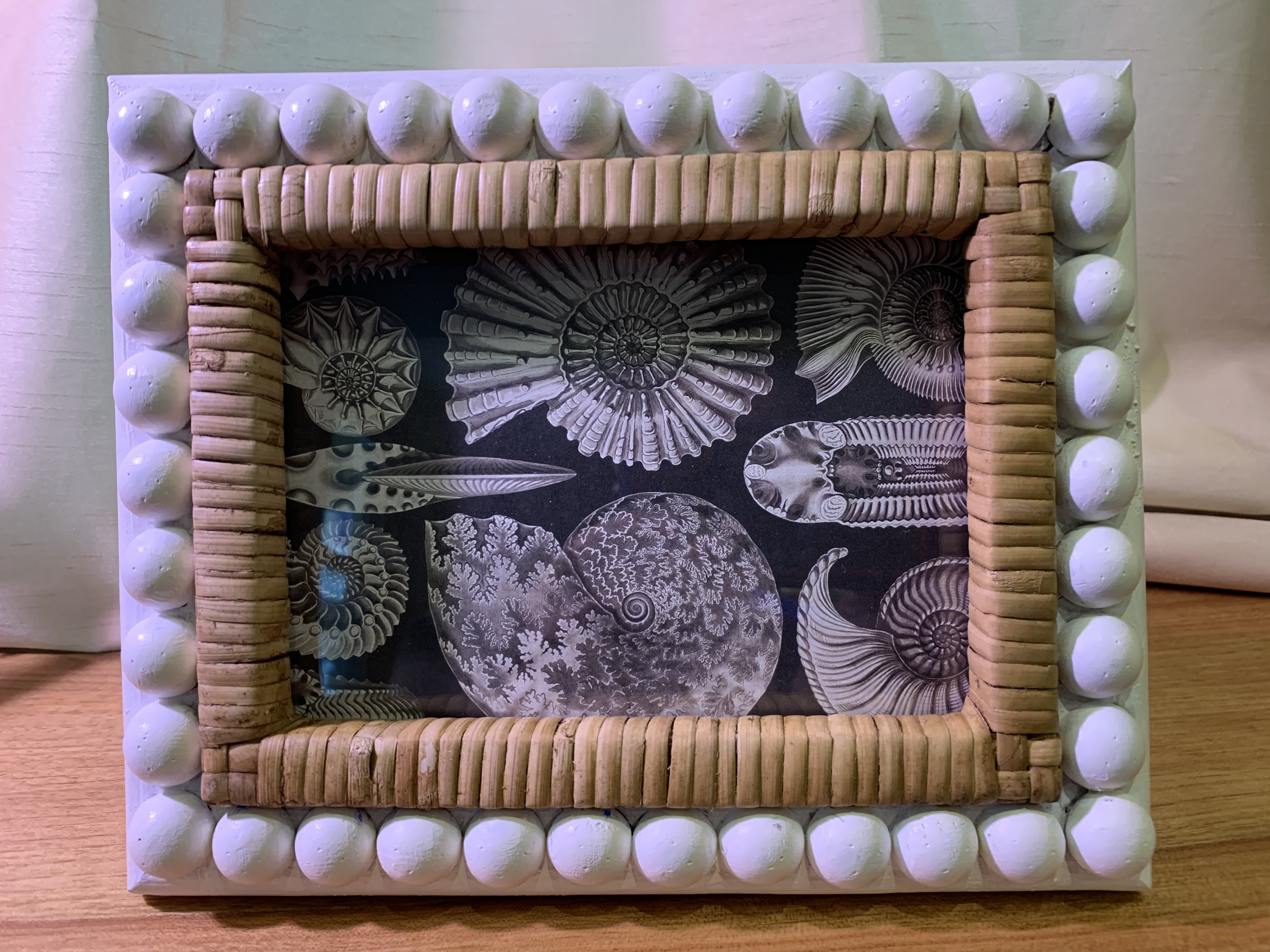 Rattan Wood Personalized Picture Frame