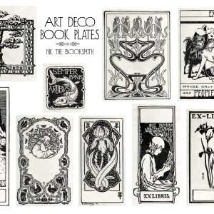 Art Deco Ex Libris Plates