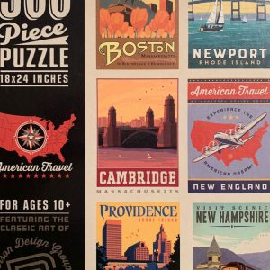 """500 Piece 18 x 24"""" Puzzle of Classic Travel Posters"""