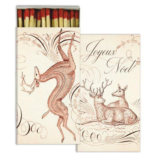 Red Reindeer Matches: Joyeux Noel