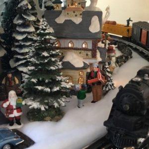 BoP's Live Snow Village Train in the Fiction Barn
