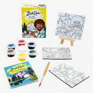 Bob Ross 3 Paintings and Instruction Book