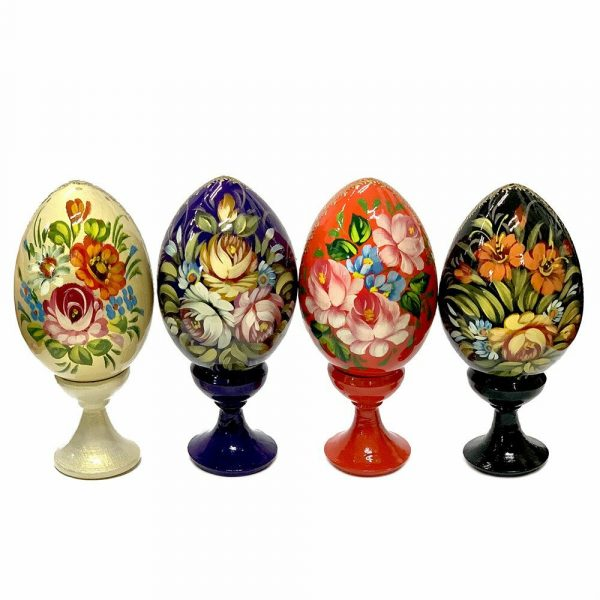 Set of Six Painted Russian Easter Eggs
